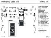 HUMMER Car/Truck Part H2 2003-2007 HMR-H2-1A